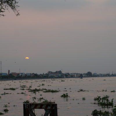 Sonnenuntergang im Mekong Delta