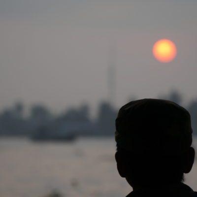 Kapitän bei Sonnenaufgang