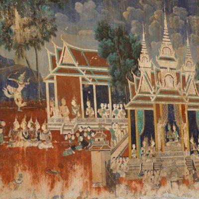Wandmalerei am Königspalast