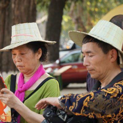 Japaner mit Hut