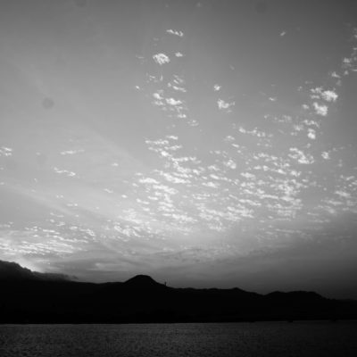 Sonnenuntergang am Fluss