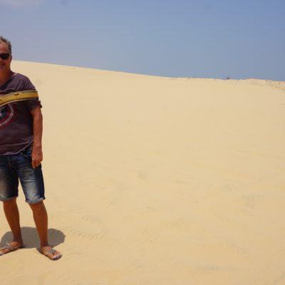 Langnase im Sand