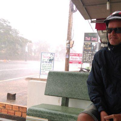 Mega Regen auf dem Rückweg