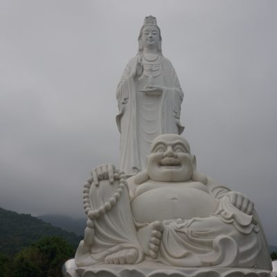 Statue mit fettem Buddha