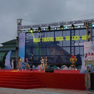 Eventbühne am Strand