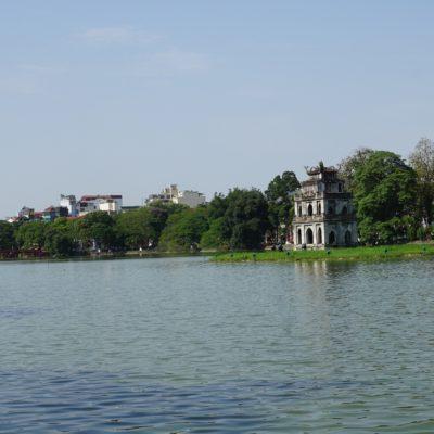 Han Kiem See in Hanoi inkl. Turtle Tower. Heimat der goldenen Schildkröte