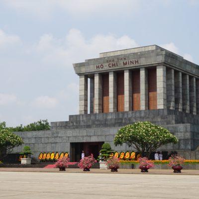 Onkel Ho Mausoleum. Sein letzter Wunsch... Seine Asche sollte über Vietnam verstreut werden. Jetzt liegt er in Hanoi...