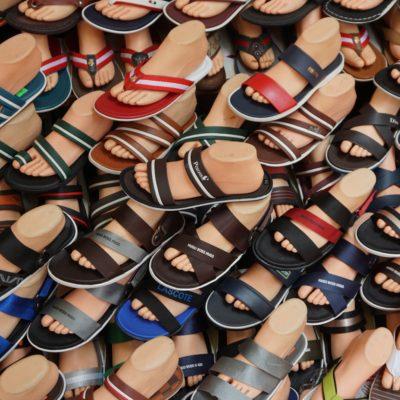 Fuss mit Schuh