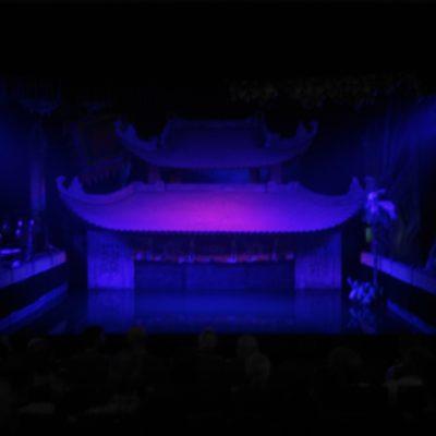 Die Bühne vor der Vorstellung