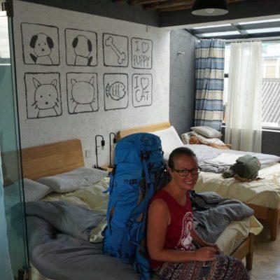 Unser Zimmer in Dali. Auf geht's nach Shaxi