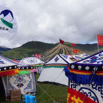 Bunte Zelte der Völker