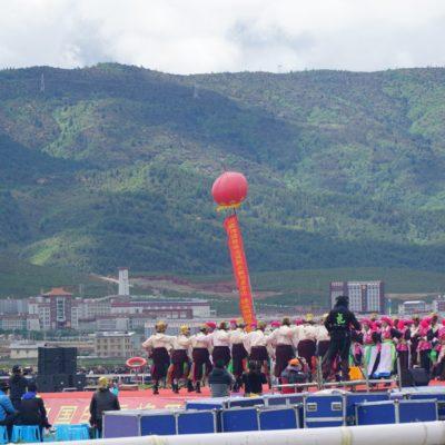 Festivalgelände mit Tanzbühne