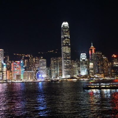 Hongkong am Abend.