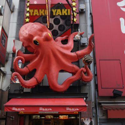 Oktopus, eine Spezialität in Osaka. Natürlich gleich getestet.