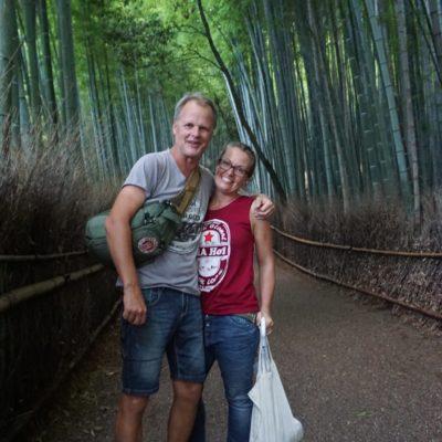 Wir im Bambuswald, wie romantisch.