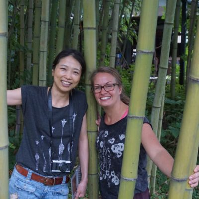 Die Mädels im Bambuswald