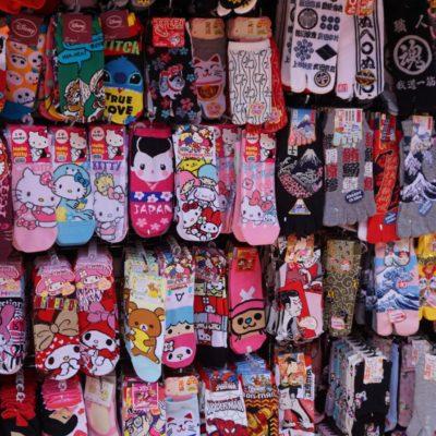 Schöne bunter Socken. Genau unser Style