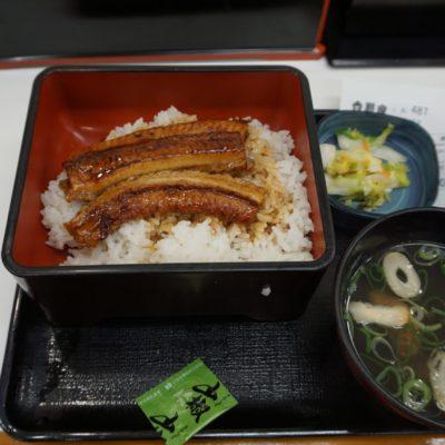 Karamellisierter Aal mit Reis, kleinem Salat und einer Miao-Suppe. Einfach und genial