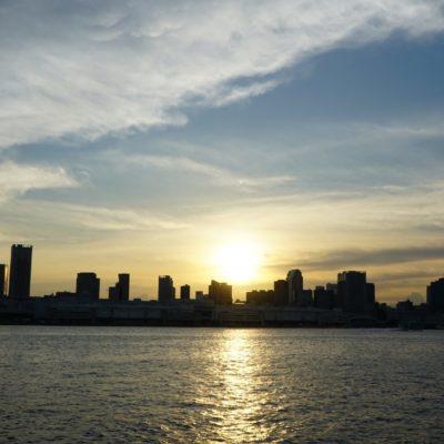 Schönes Sonnenuntergang