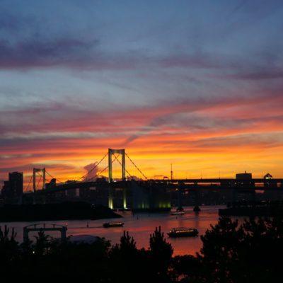 """Sonnenuntergang von der """" Hafencity """""""