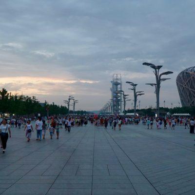 Am Abend im Olympic Park