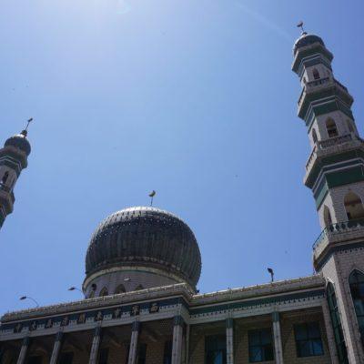 Moschee in Xining. Xining ist muslimisch / tibetisch geprägt.