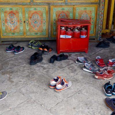 Immer schön die Schuhe ausziehen