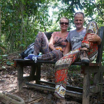 Noch zwei Affen im Wald