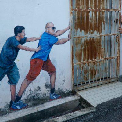 Die legendären Wandmalereien / Streitart
