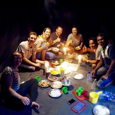 Abendessen mit der Gruppe inkl. Guide + Koch ( Ollo )