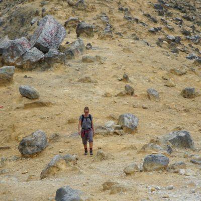 Christl am Krater