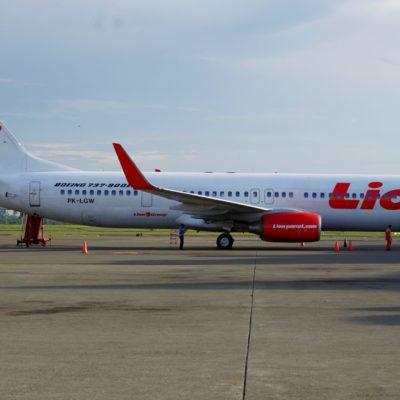 Der Flieger von Padang via Jakarta nach Surabaya