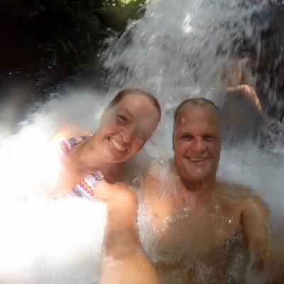 Wasserfall Massage
