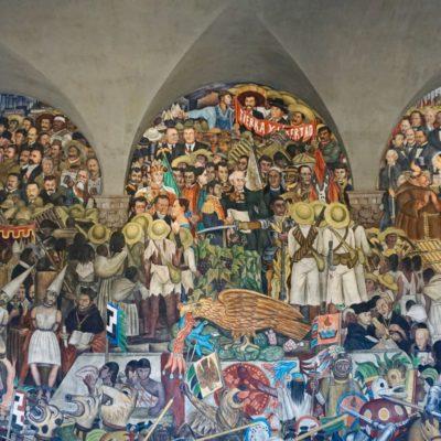 Wandmalereien im Nationalpalast von Diego Reviera