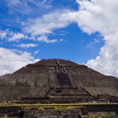 Nochmals die Sonnenpyramide. Wir konnten davon nicht genug bekommen.