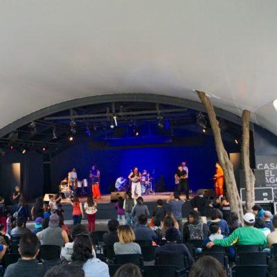 Liveband im Park von Chapultepec