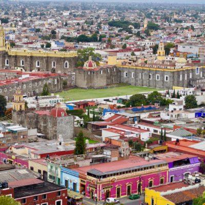 Blick auf die Altstadt von Cholula.