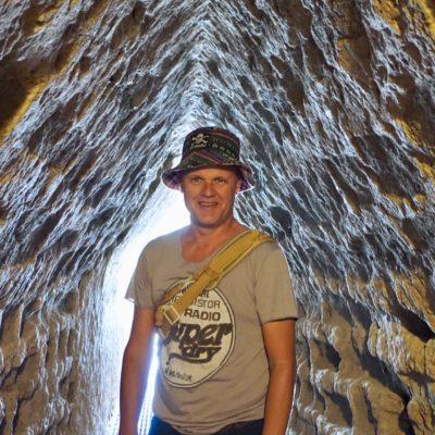 8 Kilometer Tunnel führen durch den Bauch der Pyramide. 800 Meter für Touristen zugänglich.