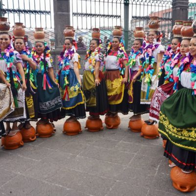 Komstüm Wettbewerb am Wochenende in Puebla Altstadt
