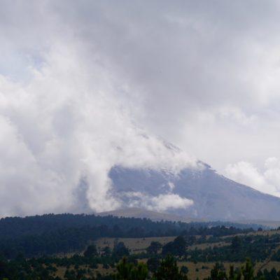 Und wieder ist er uns entwischt..... Der Popocatépetl leider nur zu 1/3 zu sehen.... Schade.