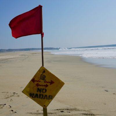 Baden verboten. Bei uns am Strandabschnitt war alles OK