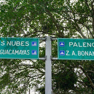 An der Abzweigung nach Palenque