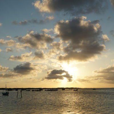 Sonnenuntergang in Rio Lagartos