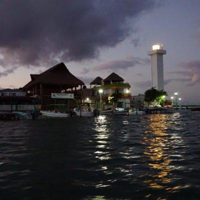 Der Hafen von Rio Lagartos am frühen Morgen