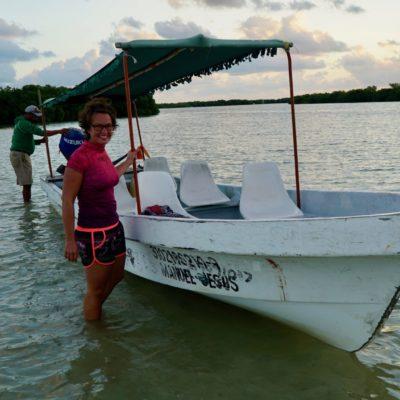 Unser Boot mit Christl und dem Käptn.