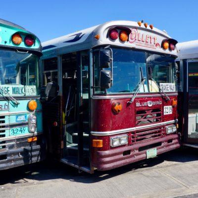 """Der """" Chicken Bus """" ein tolles Teil zum Reisen"""