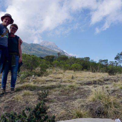 Im Hintergrund der Gipfel des Tajumulco