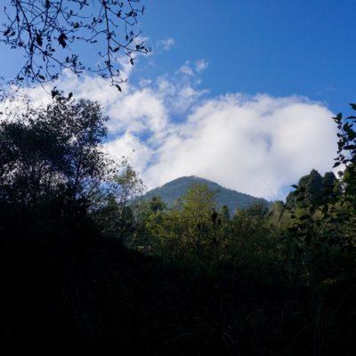 Unser heutiges Tagesziel. Der 3772 Meter hohe Vulkan Santa Maria