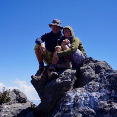 Auf dem Stein dann wohl schon 3773 Meter