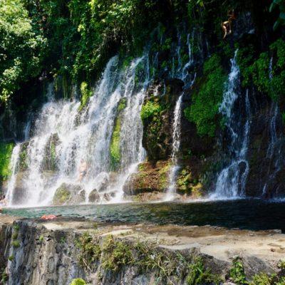 Am Wasserfall angekommen.
